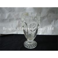 Wholesale delicate design milk shake cup, glass ice cream cup wholesale from china suppliers
