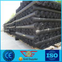 Wholesale geosynthetic for plastic biaxial geogrid 40kn/m for road construction from china suppliers