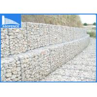 Quality Heavy Galvanized Gabion Mesh Cages For Slope Protection , 2.2mm Tie Wire for sale