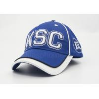 Wholesale Men / Women Sports Cotton Baseball Caps Embroidery , Blue With White Under Bill from china suppliers