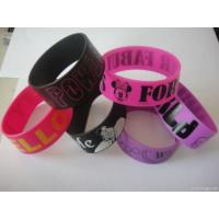 Wholesale Printed Silicone Bracelets/rubber Wristbands/ Free Shipping Bracelets from china suppliers