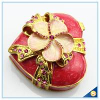 Wholesale Shinny Gifts Customized Heart Shape Handmade Storage Trinket Box SCJ 388-1 from china suppliers
