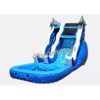 Buy cheap 16 ft Dolphin Rush Wave Commercial Inflatable Water Slides 7 * 4 * 5m from wholesalers