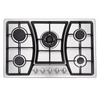 Wholesale 5 Ring Built In Gas And Electric Hob With 201 /304 SUS Stainless Steel Panel from china suppliers