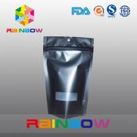 Wholesale Reusable Matte Black Doypack Ziplock Coffee Bag Gravure Printing Moisture Proof from china suppliers