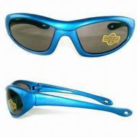 Wholesale Non-toxic Kid's Sunglasses, Available with Scratch-resistant Coating on Lens, Lead-/Azo-free from china suppliers