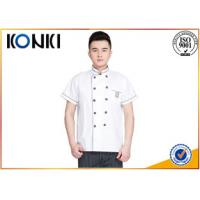 Wholesale Custom Cotton Chef Cook Uniforms With Embroidery Logo Restaurant Uniforms Shirts from china suppliers