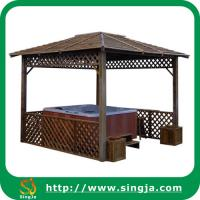 Wholesale Retro Wooden Gazebo For Hot Tub(WG-08) from china suppliers
