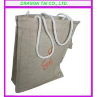 Wholesale linen handbag with rope handle,  linen shopping bag, linen tote bag from china suppliers