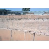 China Custom Sharp Stainless Steel Razor Wire Fence Silver Blue Green Yellow Color on sale