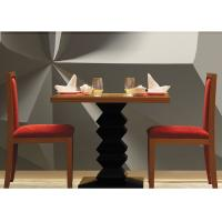 Wholesale Dark Teak Modern Hotel Dining Table , Country Restaurant Table And Chairs Sets from china suppliers