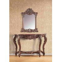 Wholesale Home Furniture Antique Resin Console Table With Mirror Brown Color from china suppliers