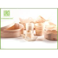 Wholesale Pine / Poplar Wooden Sushi Boat / Cups For Restaurant Different Shape Size from china suppliers