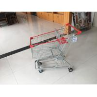 Wholesale 100L Low Tray Supermarket European Steel Shopping Trolley With colorful coating from china suppliers