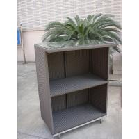 Wholesale Outdoor Dark Brown Resin Wicker Bar Set Table With Steel Frame from china suppliers