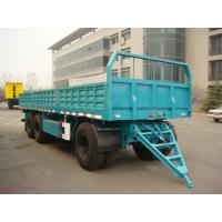 Wholesale 27 Feet-3 Axles-Draw Bar Rail Side Flat Bed Trailer from china suppliers