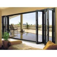 Quality White Foldable Sliding Doors / Clear Interior Bifold Doors With Glass for sale