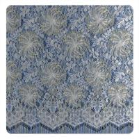 Wholesale Multi color Chantilly Metallic Nylon Lace Fabric ,  Eyelash Lace Trim For Womens Dress from china suppliers