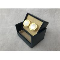 Wholesale Solid Wooden Cufflink Storage Case , Elegant Personalized Cufflink Box from china suppliers