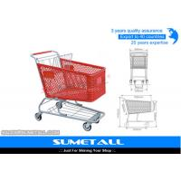 Wholesale 180L Plastic Shopping Trolley Supermarket Shopping Cart With TPR Wheels from china suppliers