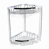 Quality Wire Basket with Double Layer Sanitary Accessories, Made of Brass with Chrome Polished Finish for sale