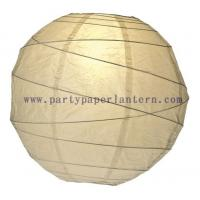 Wholesale 20CM Straw - yellow  Round Party Paper Lantern , Indoor Paper Lanterns Wedding Decorations from china suppliers