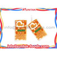 Wholesale Orange Coated Organic Sugar Free Candy , Colorful Mint Candies Oval Shape from china suppliers