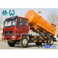 Quality 15 CBM High Pressure Sewage Suction Trucks , 336 HP RHD Septic Tank Truck for sale