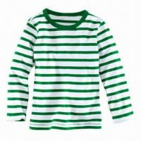 Wholesale Long-sleeved T-shirt with Eco-friendly Printing in Various Colors from china suppliers