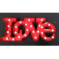 Wholesale Metal Marquee LED Letter Lights , Wedding Decoration Illuminated Love Sign from china suppliers