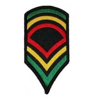 Wholesale Rasta Jamaica Army Stripes Embroidered Iron On Badge Applique Patch from china suppliers