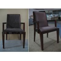 Custom Regis Grey Velvet Modern Mahogany Arm Chair For Dining Room