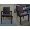 Buy cheap Custom Regis Grey Velvet Modern Mahogany Arm Chair For Restaurant Dining Room from wholesalers