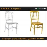 Wholesale 100% Fully Resin White / Gold Tiffany Chair For Hotel / Party from china suppliers