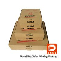 Wholesale Kraft Paper Plain Brown Pizza Packaging Boxes 6 Inch Square Shape Offset Printing from china suppliers