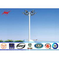 Wholesale 45m Galvanized High Mast Tower 100w - 5000w For Airport / Seaport , Single Or Double Arm from china suppliers