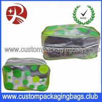 Quality Wholesale Promotional PVC Travel Beauty Cosmetic Custom Packaging Bags ,PVC Slider Cosmetic Bag for sale
