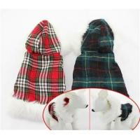 Wholesale Winter plaid Dog Coat from china suppliers