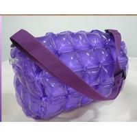 Wholesale Pink Mini Inflatable Clear PVC Shoulder Bags For Girls With Hubble-Bubble from china suppliers