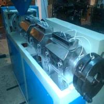 Single Screw Extruder PVC Profile Extrusion Line , 100kg Output PVC Extruder Machine