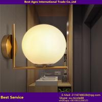 Buy cheap 2016 modern glass ball hotel wall lamp project lighting fixture from wholesalers