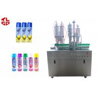 Wholesale Spray Can Aerosol Filling Machine , Pneumatic Drive Filling And Capping Machines from china suppliers