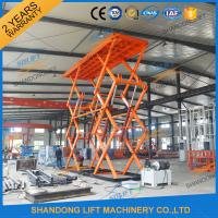 Wholesale 10T 8M Heavy Loading Material Lift Warehouse Stationary Hydraulic Scissor Lift CE TUV SGS from china suppliers