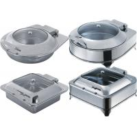 Wholesale Catering Buffet Equipment Drop - In Induction Chafing Dish With Glass Or Solid Lid from china suppliers