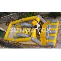 Wholesale Panda Soccer Player Inflatable Obstacle Course , Inflatable Outdoor Play Equipment from china suppliers