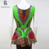 Wholesale Stylish African Inspired Print Jumpsuits Dresses Anti - Wrinkle Wax Printed from china suppliers