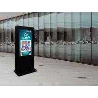 Quality 55 Inch High Brightness IP65 Floor Standing Outdoor Digital Signage All Weather Working for sale