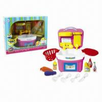 Wholesale 11-piece Plastic Kitchen Set/Toys with Manual Water Function from china suppliers