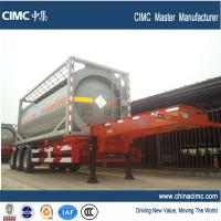 Wholesale tri-axle 20ft gooseneck container chassis for tank container from china suppliers