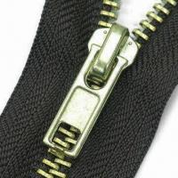 Wholesale Metal Zipper with Slider, Customized Specifications and Lengths are Accepted from china suppliers